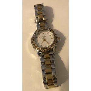 DKNY gold silver watch